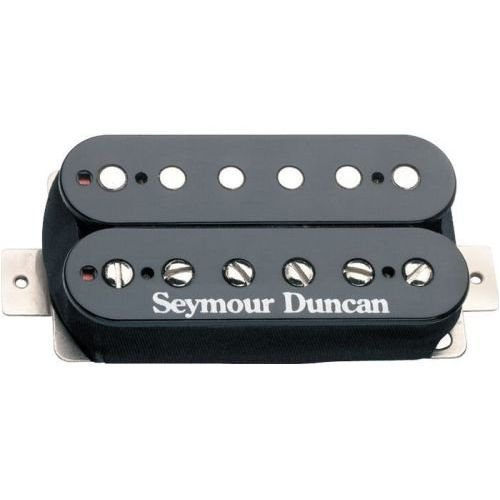 The genius of the humbucker is that the coils are wound in the opposite direction to each other thus cancelling out the electro-magnetic interference that causes the hum in a single coil pickup.