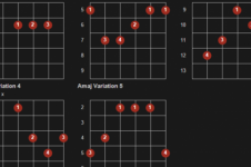 Learning guitar chords