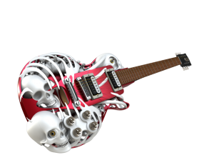 on tour with 3D printed guitars