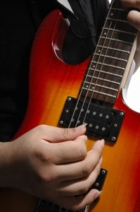 alternate picking on the guitar