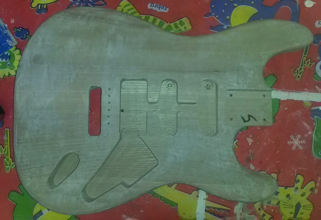 Preparing the guitar body for painting