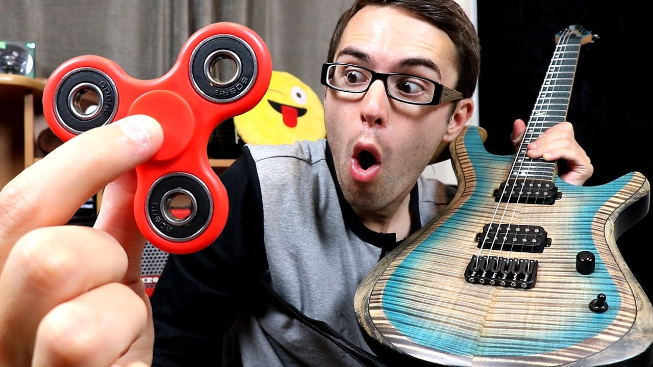can you use a fidget spinner as a guitar pick